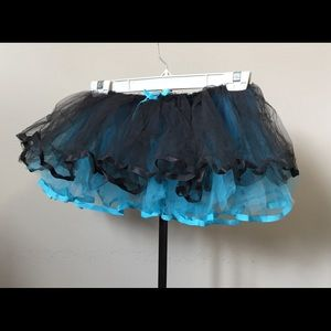 Leg Avenue Blue and Black Reversible Tutu OS Adult